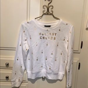 Holiday cropped sweater shirt